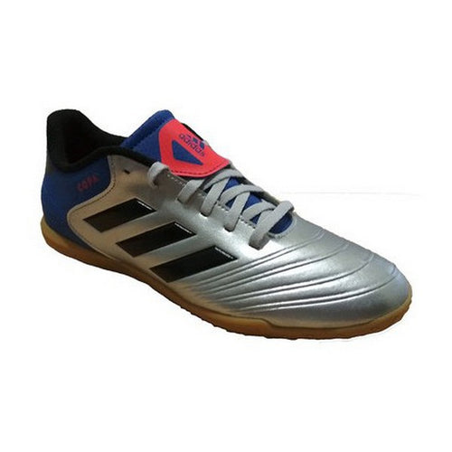 Children's Indoor Football Shoes Adidas Copa Tango 18.4 IN Junior Grey Blue