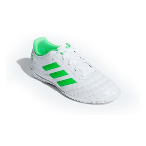 Children's Indoor Football Shoes Adidas Copa 19.4 IN White Green
