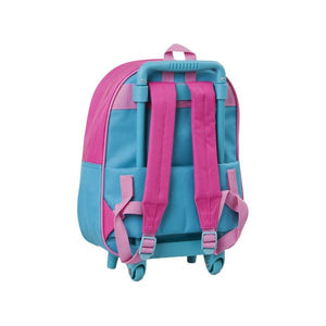 School Rucksack with Wheels Doctora Juguetes 3295 Blue Pink
