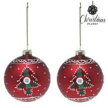 Load image into Gallery viewer, Christmas Baubles Christmas Planet 1785 8 cm (2 uds) Crystal Red