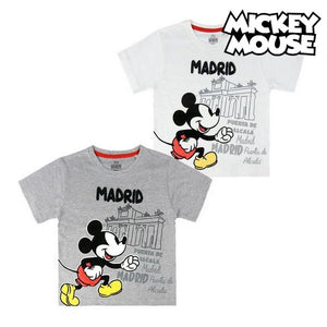 Child's Short Sleeve T-Shirt Madrid Mickey Mouse 73489