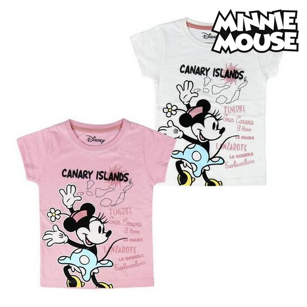 Child's Short Sleeve T-Shirt Canary Islands Minnie Mouse 73489