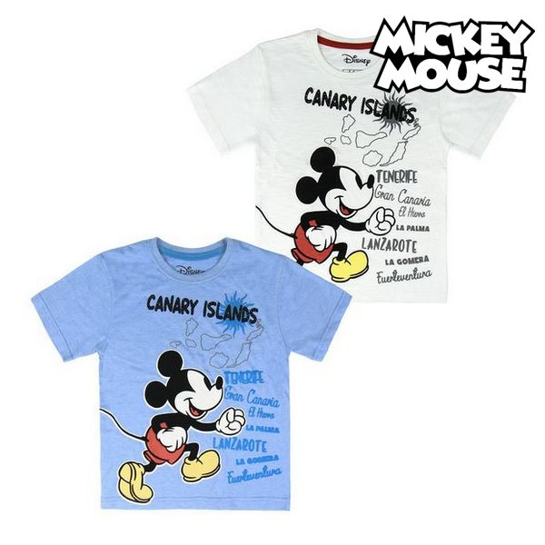 Child's Short Sleeve T-Shirt Canary Islands Mickey Mouse 73489