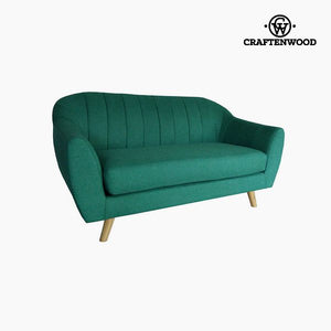 2-Seater Sofa Pine Polyester Green (145 x 83 x 83 cm) by Craftenwood