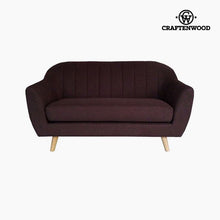 Load image into Gallery viewer, 2-Seater Sofa Pine Polyester Brown (145 x 83 x 83 cm) by Craftenwood