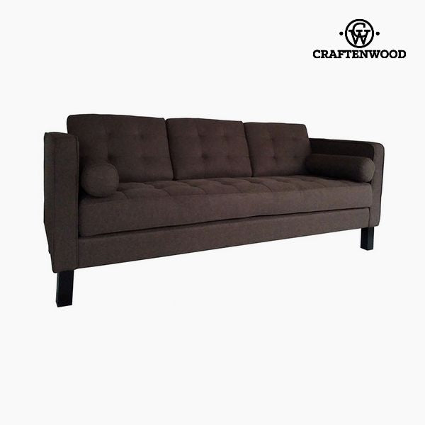 2-Seater Sofa Pine Polyester Brown (203 x 81 x 81 cm) by Craftenwood