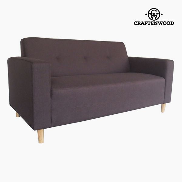 2-Seater Sofa Pine Polyester Brown (167 x 82 x 81 cm) by Craftenwood
