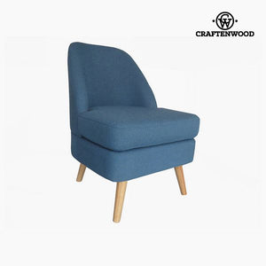 Armchair Pine Velvet Blue (56 x 68 x 82 cm) by Craftenwood