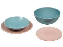 Load image into Gallery viewer, Tableware (19 pcs) China crockery Blue Pink