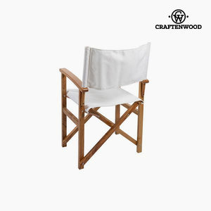 Chair Neem wood White (86 x 55 x 52 cm) by Craftenwood