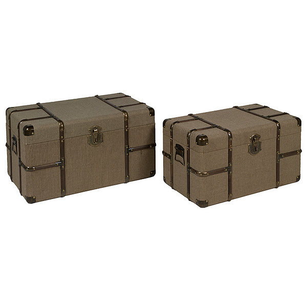 Set of Chests Vintage (2 pcs) Brown