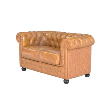 Load image into Gallery viewer, 2 Seater Chesterfield Sofa (140 x 80 x 72 cm)