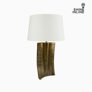 Desk Lamp Gold Ceramic (40 x 9 x 66 cm) by Shine Inline