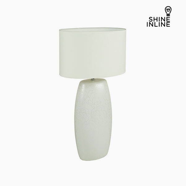 Desk Lamp White Ceramic (16 x 11 x 31 cm) by Shine Inline
