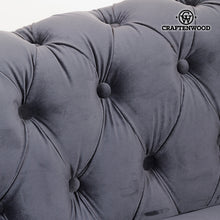 Load image into Gallery viewer, 3 Seater Chesterfield Sofa Velvet Grey - Relax Retro Collection by Craftenwood