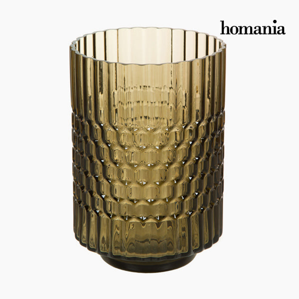 Vase Glass Brown - Crystal Colours Deco Collection by Homania