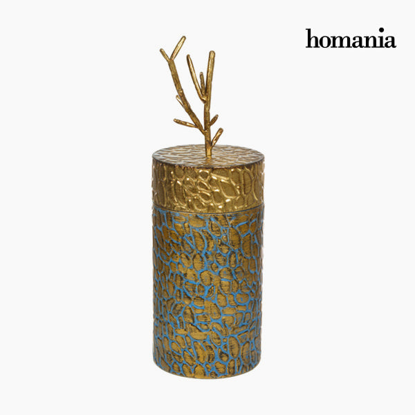 Box with cover Metal Golden by Homania