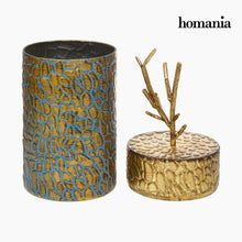 Load image into Gallery viewer, Box with cover Metal Golden by Homania