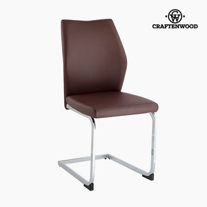 Chair Polyskin Brown (42 x 59 x 105 cm) by Craftenwood