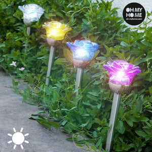 Oh My Home Solar Flower Lamp