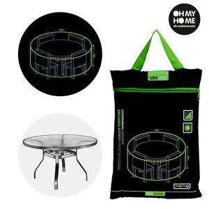 Oh My Home Round Garden Table Waterproof Cover