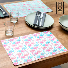 Load image into Gallery viewer, Wagon Trend Flamingos Table Mat