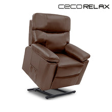 Load image into Gallery viewer, Brown Massaging Lift Chair Recliner Cecotec 6120