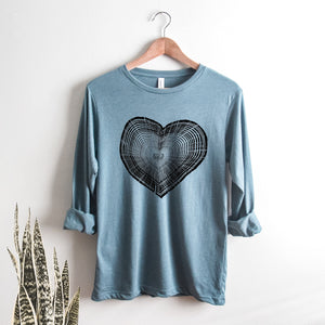 Tree Trunk Heart Long Sleeve