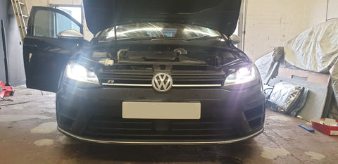 Volkswagen D3S Xenon HID Bulbs failed and turned purple.