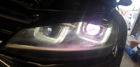 D3s Xenon HID Bulb has turned purple and failed,