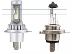 LED Vs Halogen Bulb Size