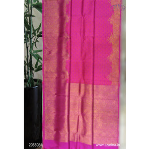 PINK GOLDEN PURE KANCHIPURAM SILK SAREE