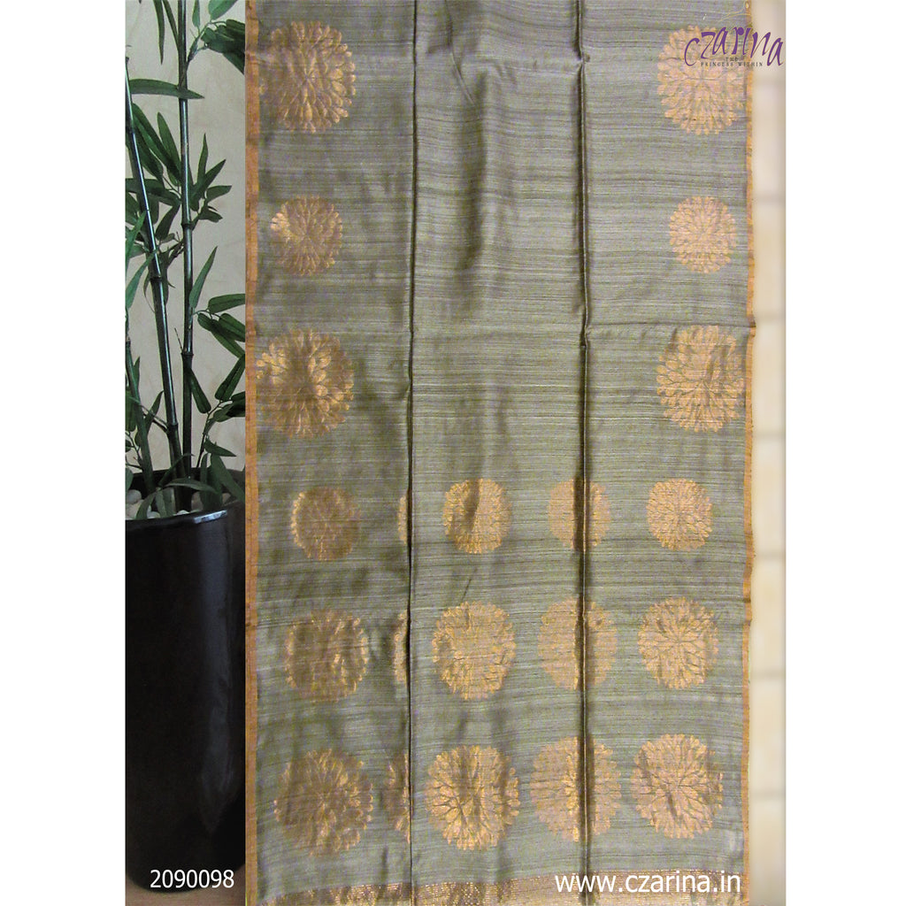 GREY GOLDEN BAILOU SAREE