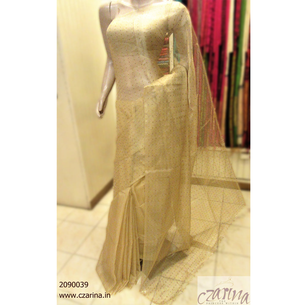 GOLDEN BAILOU SILK SAREE