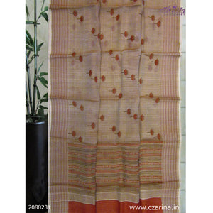 GREY MAROON PRINTED ORGANZA SAREE