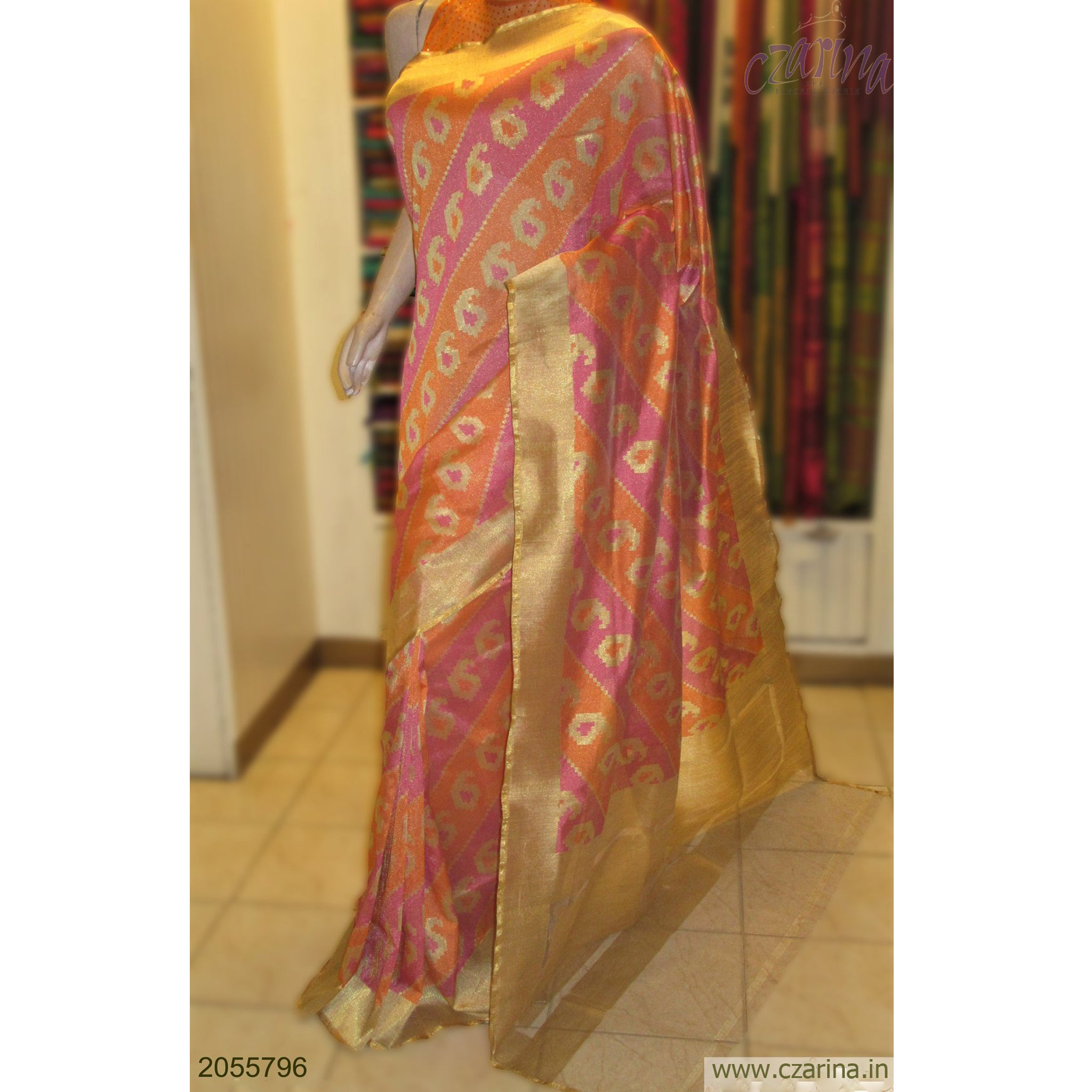 PINK GOLDEN BANARASI SILK SAREE