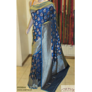 BLUE GOLDEN BANARASI SILK SAREE