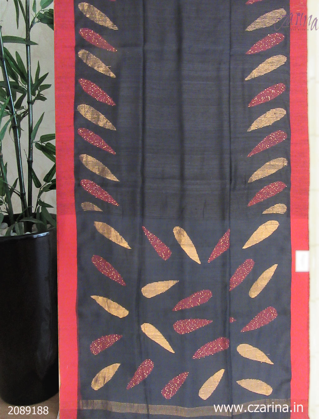 BLACK RED BAILOU SAREE