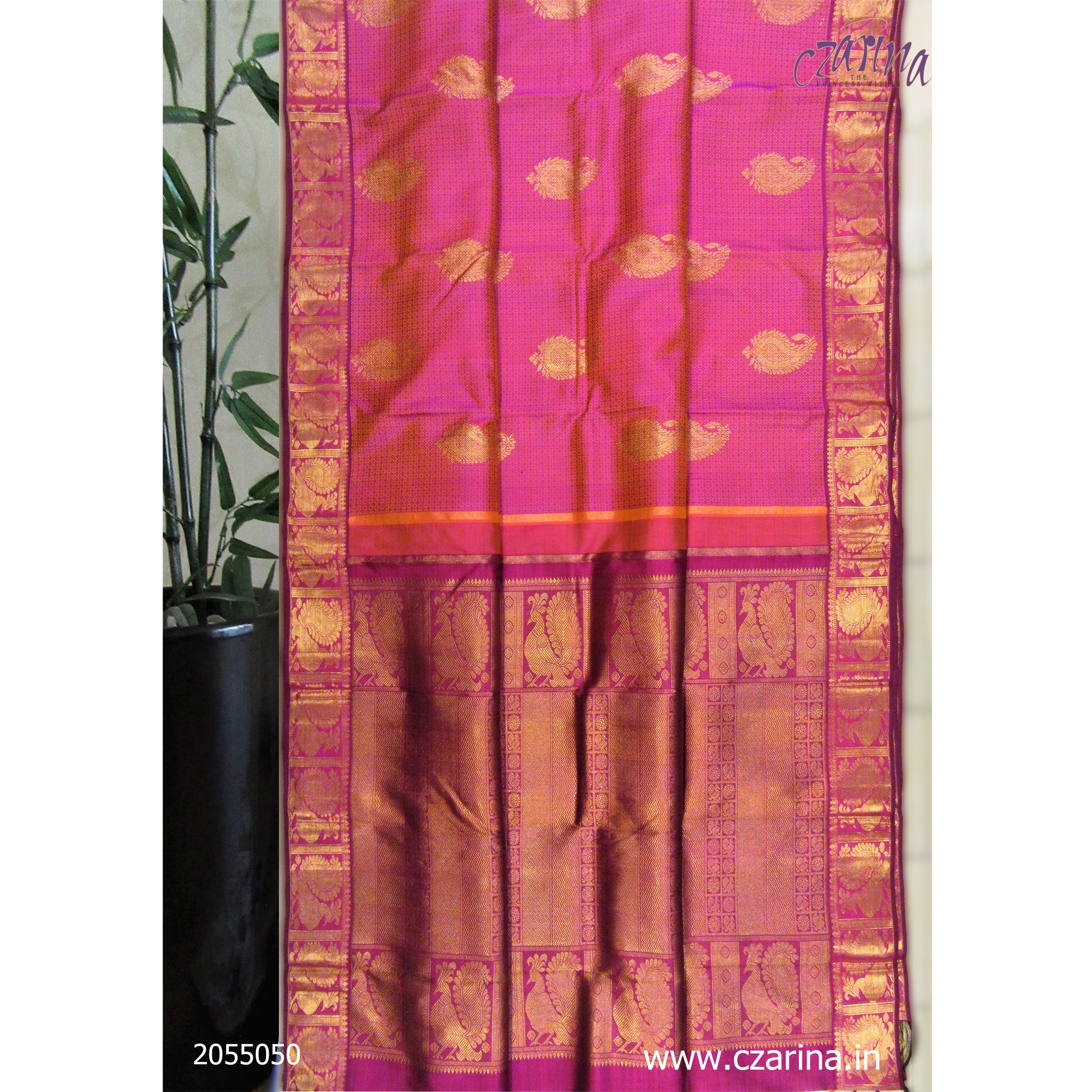 PURPLE GOLDEN PURE KANCHIPURAM SILK SAREE