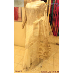OFF WHITE GOLDEN BAILOU SAREE