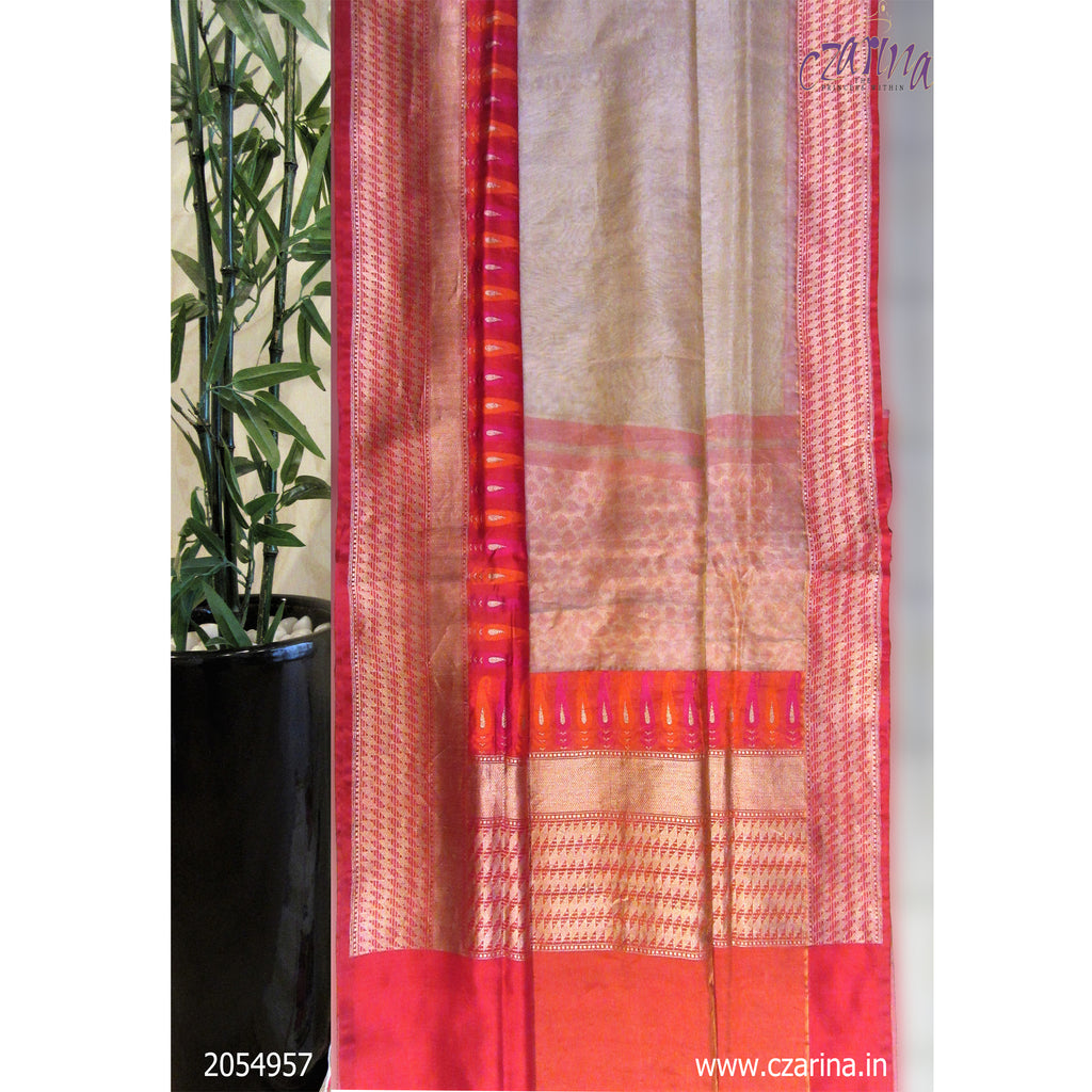 RED GOLDEN PURE BANARASI SILK SAREE