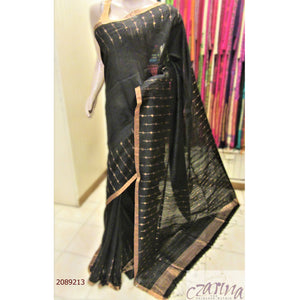BLACK BAILOU SAREE WITH GOLDEN BORDER SAREE
