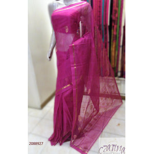 MAGENTA GOLDEN PURE ZARI KOTA SAREE