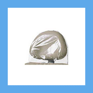 Clear Plastic Dental Headrest Covers Box of 250 - Small 11 1/4 x 10