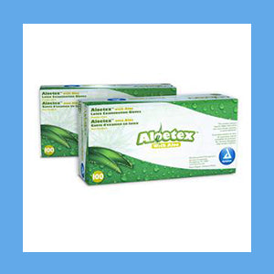 Dynarex AloeTex Latex Exam Gloves