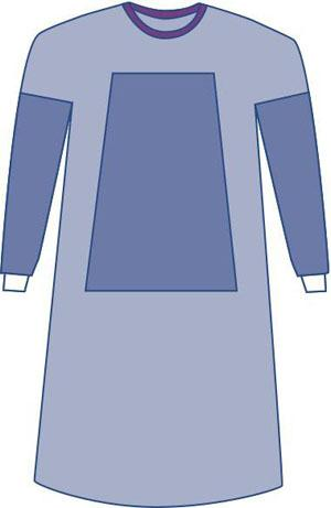 Sterile Fabric-Reinforced Eclipse Surgical Gown