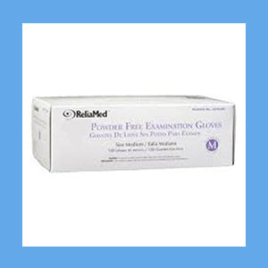 ReliaMed Nitrile Exam Gloves, Powder Free, EXTRA LARGE