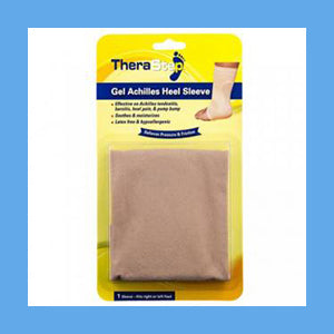 Silipos TheraStep Gel Achilles Heel Sleeve 1 Size Fits Left and Right Foot Retail Packaging 1/ Pkg. #7014