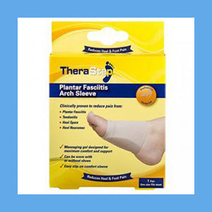 Silipos TheraStep Plantar Fasciitis Gel Arch Sleeve 1 Pair One Size fits Most- Retail Packaging #7009