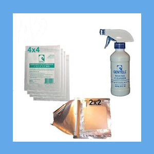 Hydrogel Saturated 2x2 Gauze Wound Care Kits